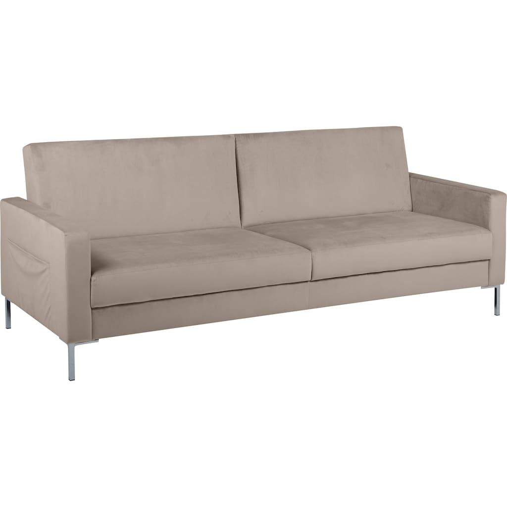 GEPADE Schlafsofa »Madeira«, Minimalistischer 2-Sitzer mit Schlaffunktion, inkl. extra Seitentaschen