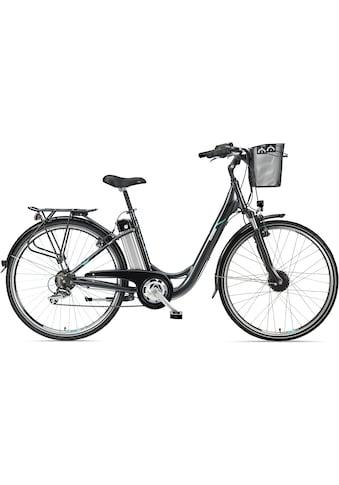 Telefunken E-Bike »Multitalent RC820«, 7 Gang, Shimano, TY 500, Frontmotor 250 W, mit Fahrradkorb kaufen