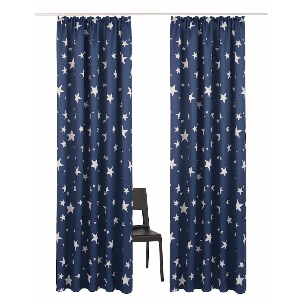my home Verdunkelungsvorhang »Solana-Star«, Vorhang, Gardine, Fertiggardine, verdunkelnd