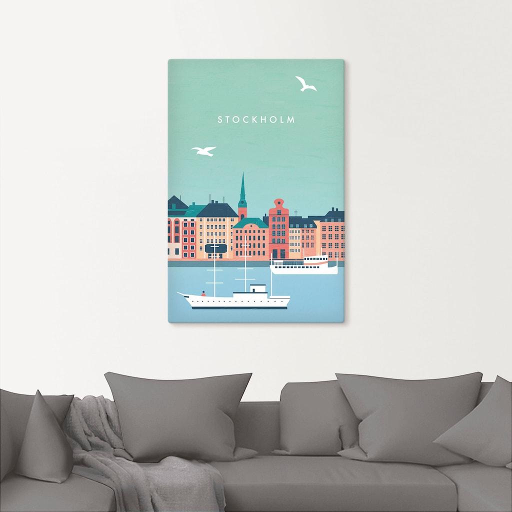 Artland Wandbild »Stockholm«, Schweden, (1 St.), in vielen Größen & Produktarten - Alubild / Outdoorbild für den Außenbereich, Leinwandbild, Poster, Wandaufkleber / Wandtattoo auch für Badezimmer geeignet