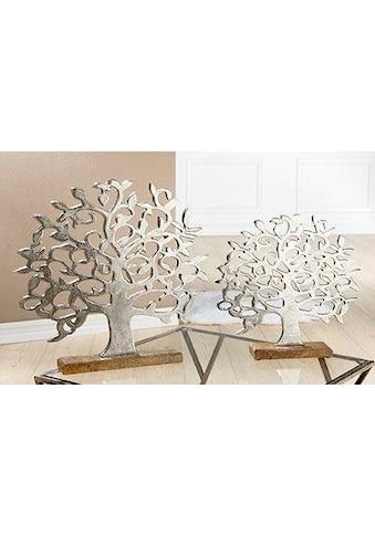 GILDE Dekoobjekt »Lebensbaum auf Holzbase« kaufen
