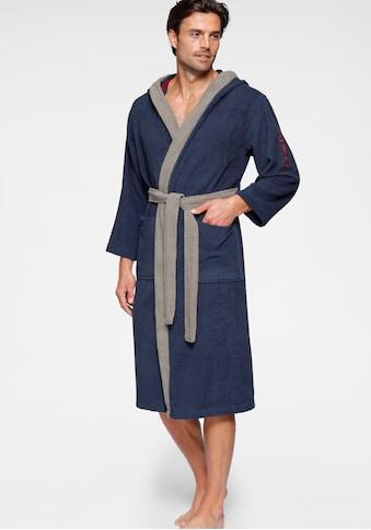 KangaROOS Unisex-Bademantel »Henry«, (1 St.), mit Kimonokragen und Logostickerei kaufen