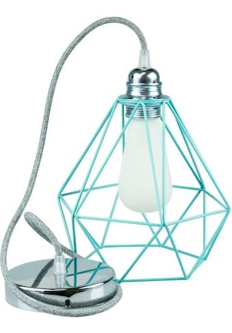 SEGULA,Hängeleuchte»Pendelleuchte Diamant Türkis Metall, Chrom, Textilkabel grau«, kaufen