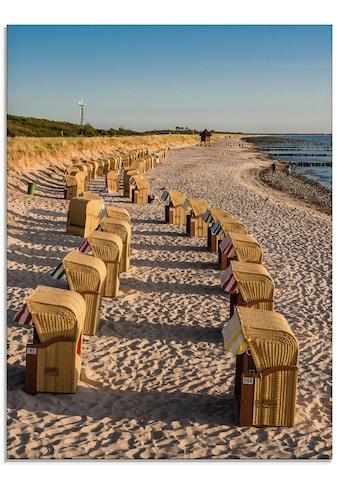 Artland Glasbild »Strandkörbe Ostseeküste in Wustrow«, Gewässer, (1 St.) kaufen