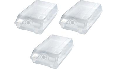 WENKO Schuhbox, (Set, 3 St.), stabiler Kunststoff kaufen