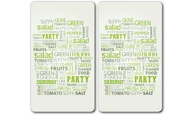 """KESPER for kitchen & home Schneide -  und Abdeckplatte """"Salad Letters"""", ESG - Sicherheitsglas, (Set, 2 - tlg.) kaufen"""