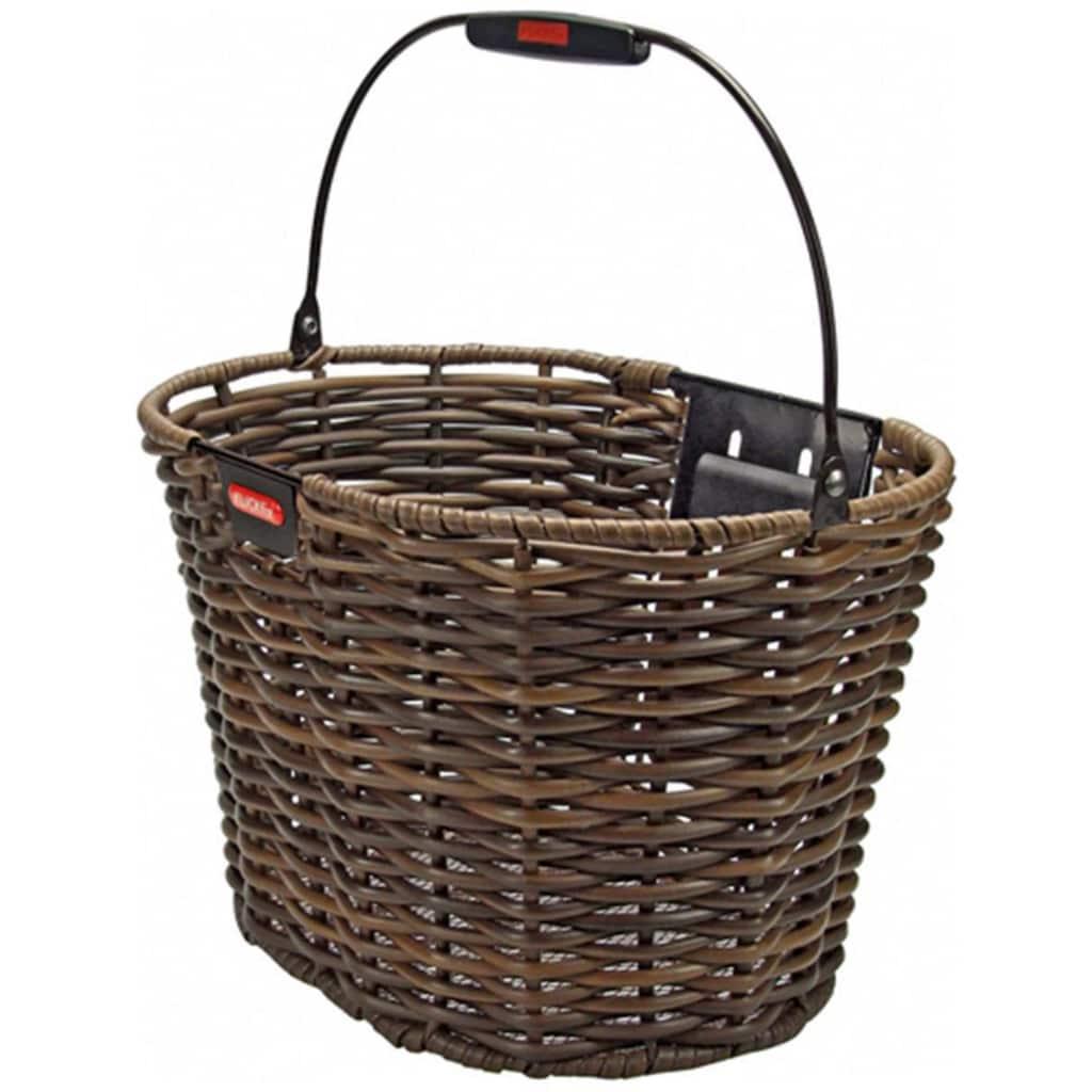 KlickFix Fahrradkorb »Vorderradkorb Structura Oval«