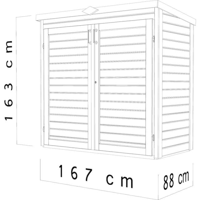 bertilo Geräteschrank »Multi 2«, BxTxH: 167x88x163 cm, inkl. Fußboden