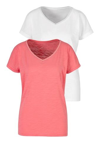 H.I.S T-Shirt, mit modischem Lurexstreifen kaufen