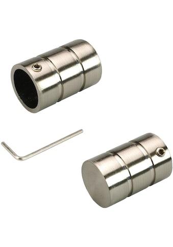 Gardinenstangen - Endstück »Zylinder«, Liedeco, passend für Gardinen (Set) kaufen