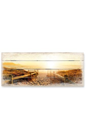 Wall - Art Holzbild »Sonnenuntergang Boho Deko« kaufen