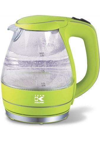 Team Kalorik Wasserkocher »Glas JK1022AG«, 1,5 l, 2200 W kaufen
