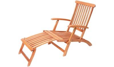 MERXX Relaxsessel »Deck Chair«, Eukalyptusholz, verstellbar, klappbar kaufen