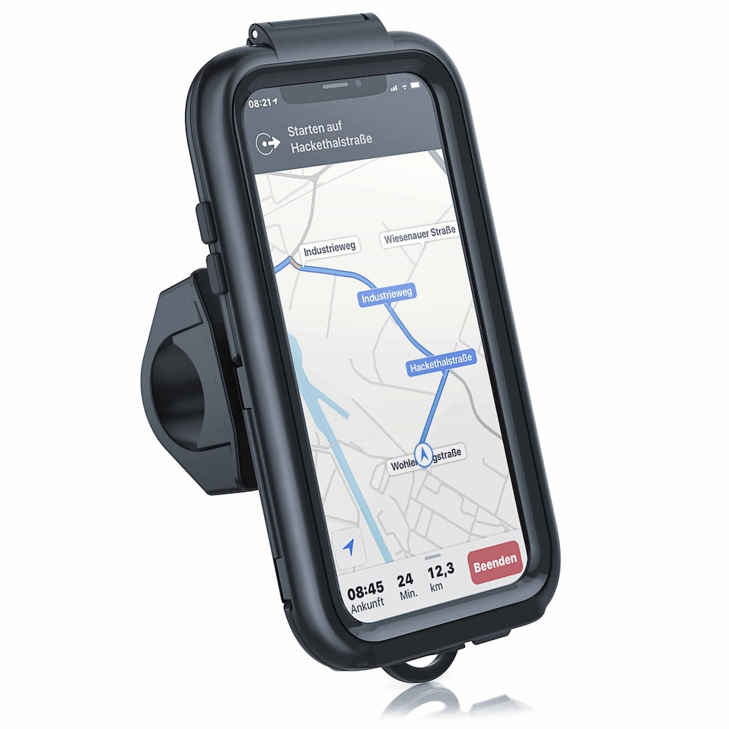 Aplic Fahrradhalterung mit Schutzhülle für Iphone X und XS »Spritzwasserschutz / Quick Lock«