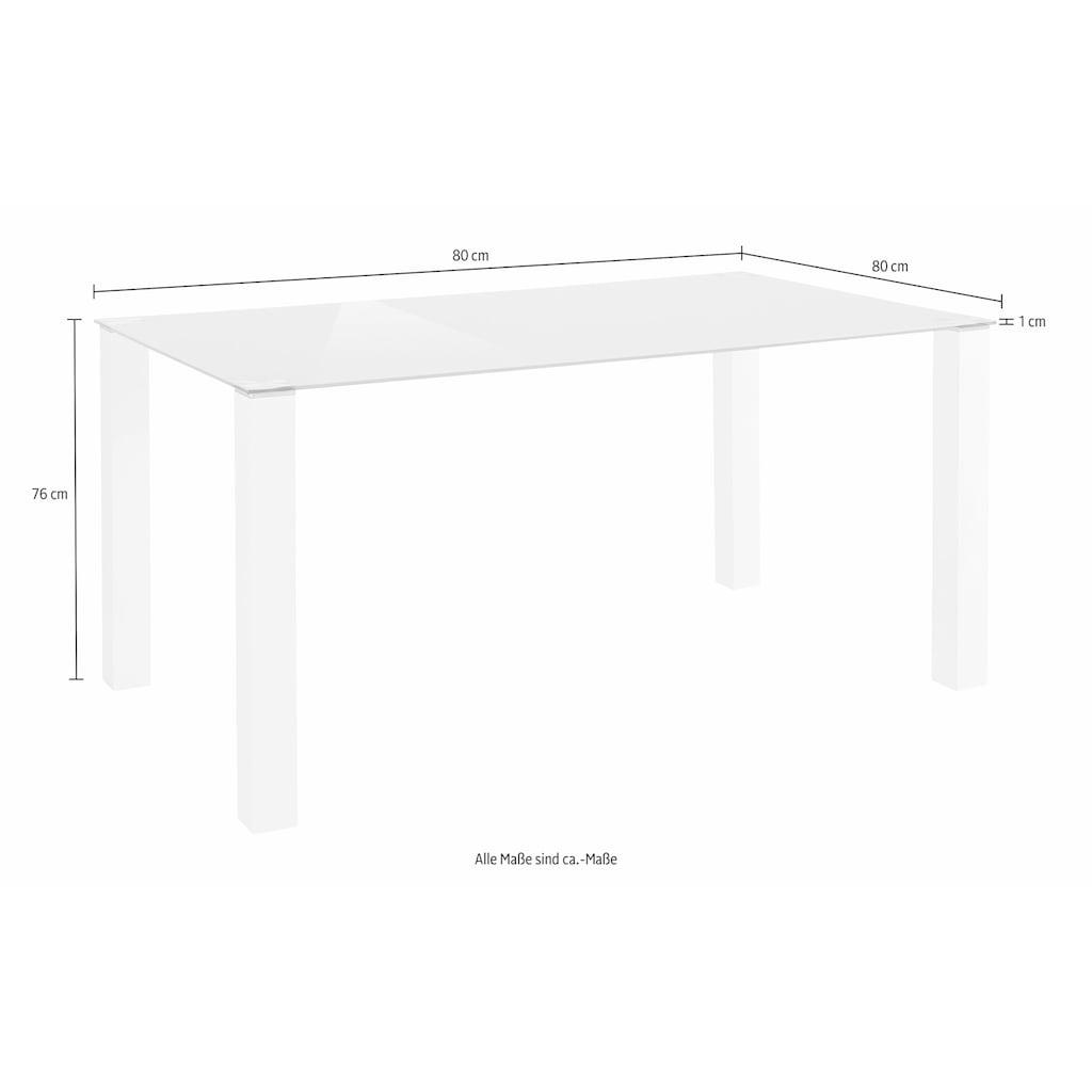 my home Essgruppe, (Set, 5 tlg.), mit Glastisch