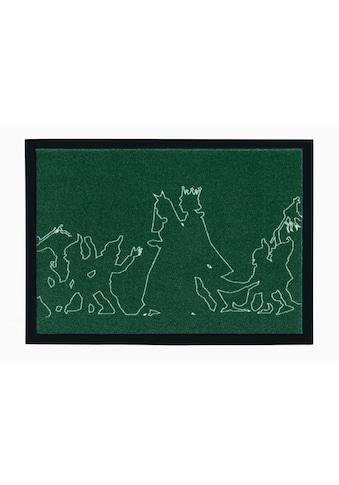 grimmliis Fußmatte »Märchen 3«, rechteckig, 2 mm Höhe, Schmutzfangmatte, Motiv... kaufen