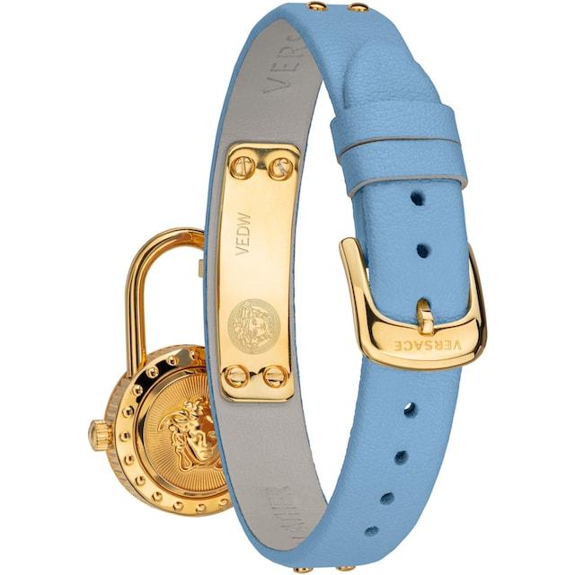Versace Schweizer Uhr »Medusa Lock Icon, VEDW00419« (Set, 3 tlg., mit zusätzlichem Lederband)