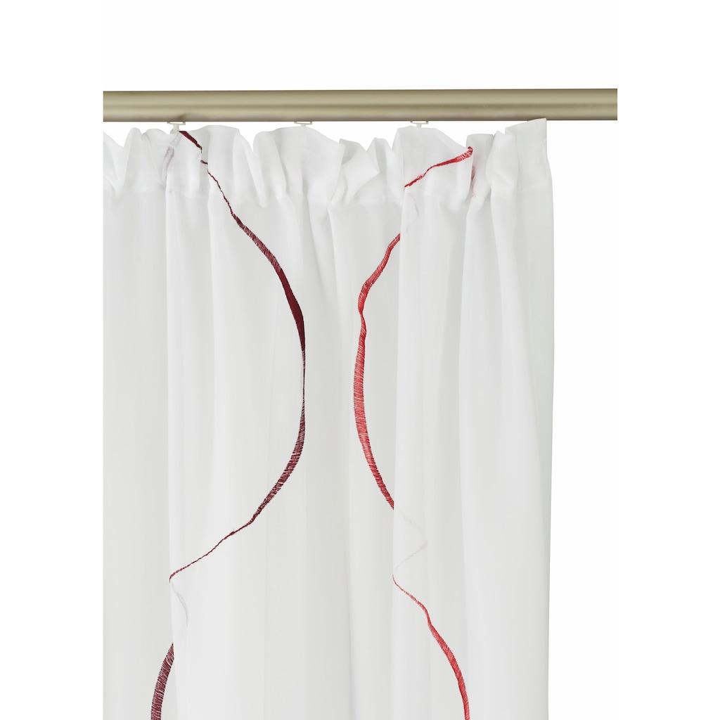 my home Gardine »Tayma«, Vorhang, Fertiggardine, transparent