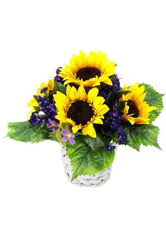 I.GE.A. Kunstpflanze »rrangement Sonnenblume in Wasserhyazinthentopf« (1 Stück) kaufen