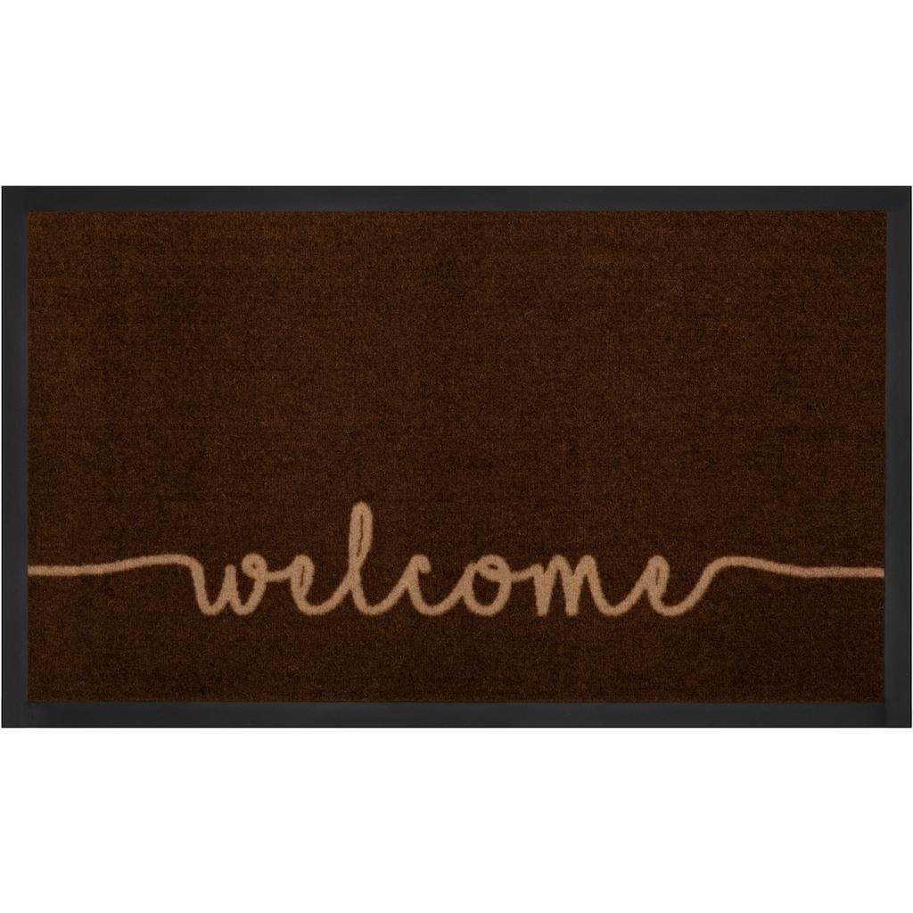 HANSE Home Fußmatte »Cozy Welcome«, rechteckig, 5 mm Höhe, Schmutzfangmatte, mit Spruch, In- und Outdoor geeignet, waschbar