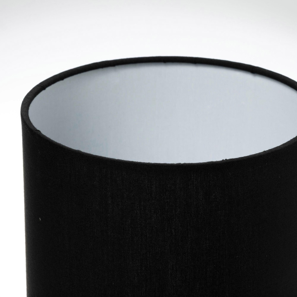 Pauleen Tischleuchte »Glossy Glow«, E14, Stoffschirm Schwarz, Keramik, Grau