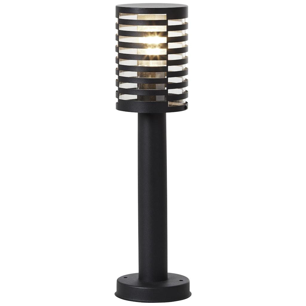 Brilliant Leuchten Außen-Wandleuchte, E27, Venlo Außensockelleuchte 50cm schwarz matt