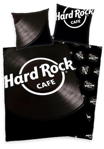 Wendebettwäsche »Hard Rock«, mit Schallplatten-Motiv kaufen