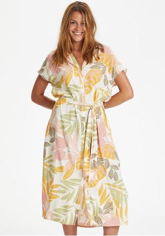 Saint Tropez Blusenkleid, mit grafisch floralem Alloverprint kaufen