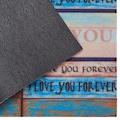 DELAVITA Fußmatte »Home love«, rechteckig, 6 mm Höhe, Schmutzmatte, mit Spruch, In- und Outdoor geeignet