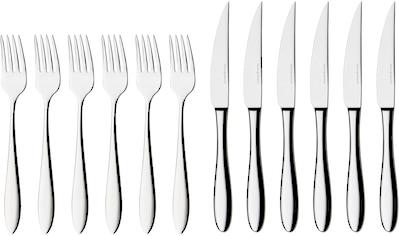 nurso Steakbesteck »Fjord«, (Set, 12 tlg.), Edelstahl 18/10, 12-teilig kaufen