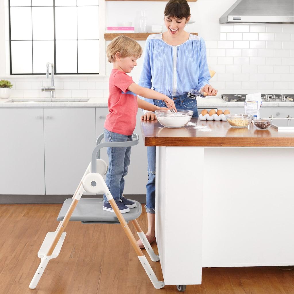 Skip Hop Hochstuhl »Sit-to-Step«, mit Neugeborenenaufsatz; klappbar