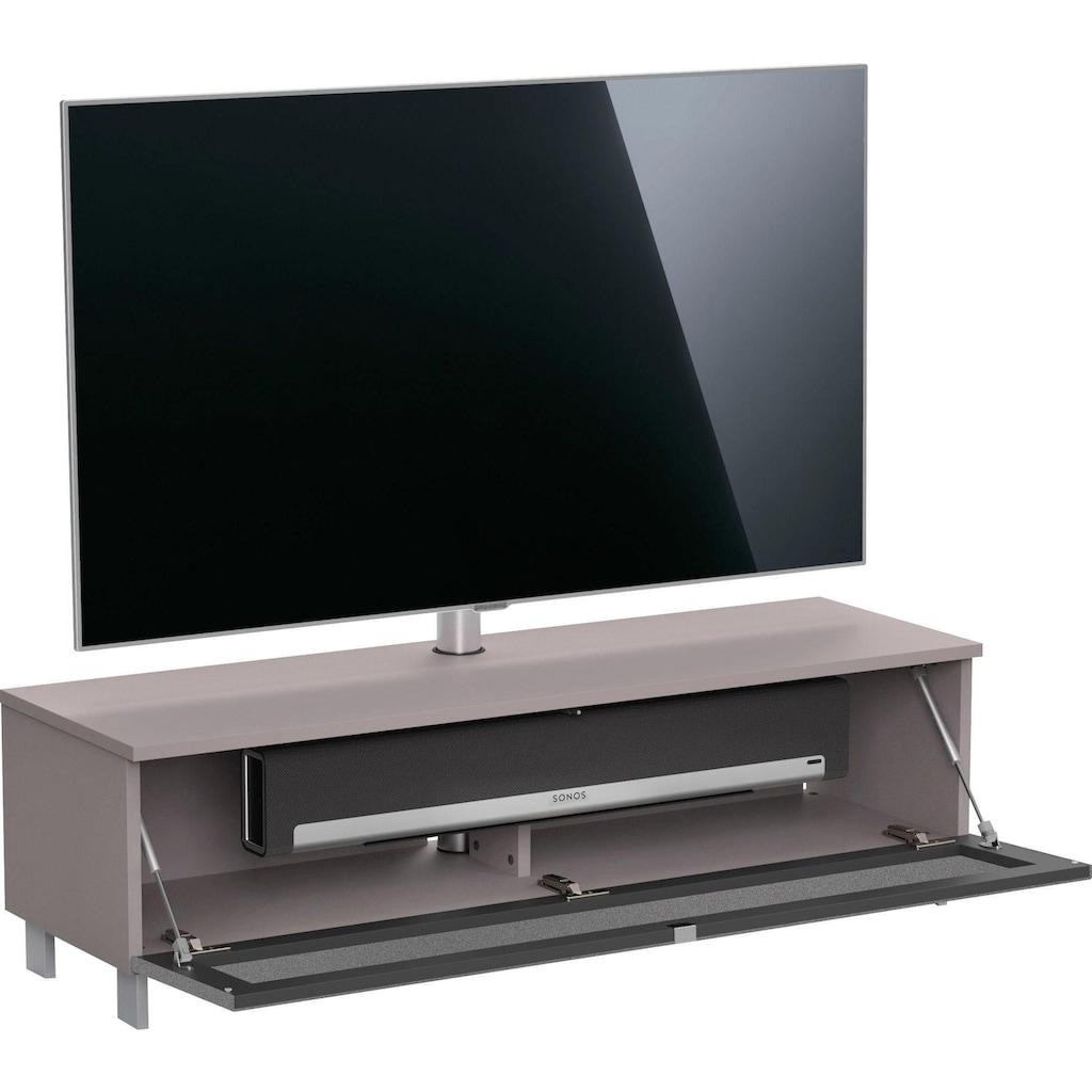 JUST by Spectral Lowboard »Just Racks«, JRB1304, Breite 130 cm, wahlweise mit Sound- oder Komplettpaket, mit Akustikspannstoff