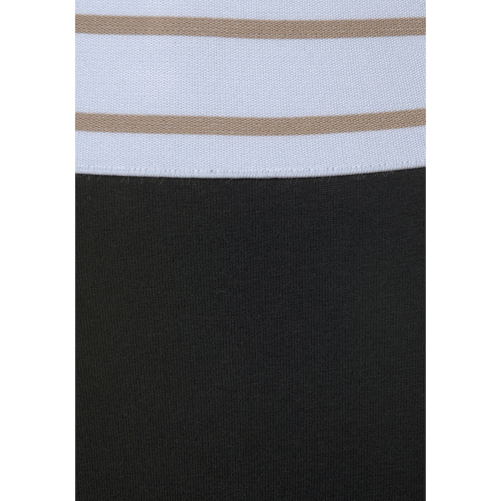 Bench. Leggings, mit gestreiftem Wäschebund und Logodruck