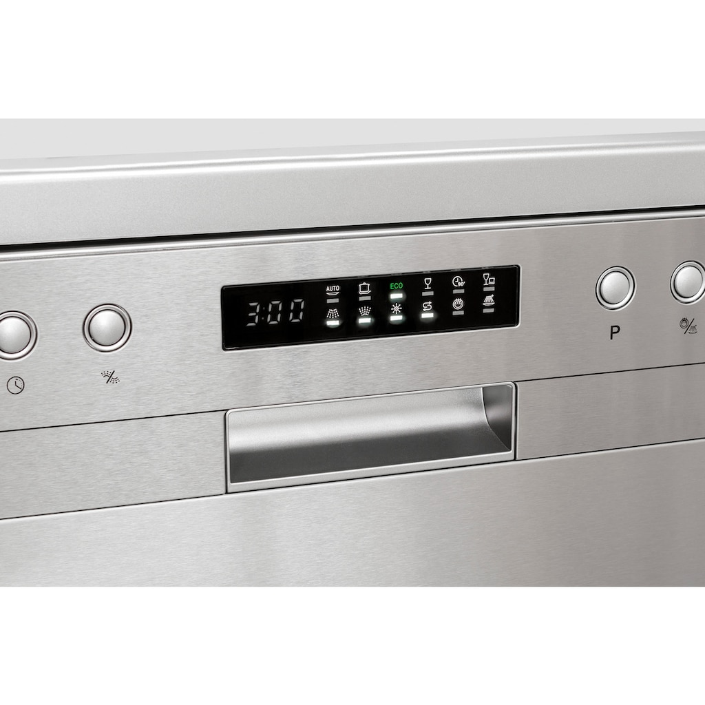 exquisit Standgeschirrspüler »GSP 9510.1 Inox«, GSP 9510.1 Inox, 8 l, 10 Maßgedecke, 45 cm breit