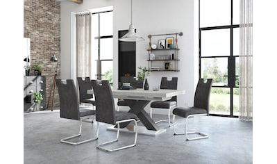Mäusbacher Esstisch »Komfort C«, mit X-Gestell in graphit und mit Auszugsfunktion,... kaufen