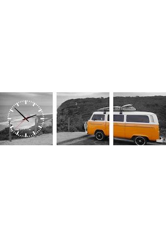 Conni Oberkircher´s Bild »Camper«, Fahrzeuge, (Set), mit dekorativer Uhr kaufen