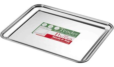 PINTINOX Servierplatte »Vassoi Tender«, (1 tlg.), eckig, Edelstahl, spülmaschinengeeignet kaufen