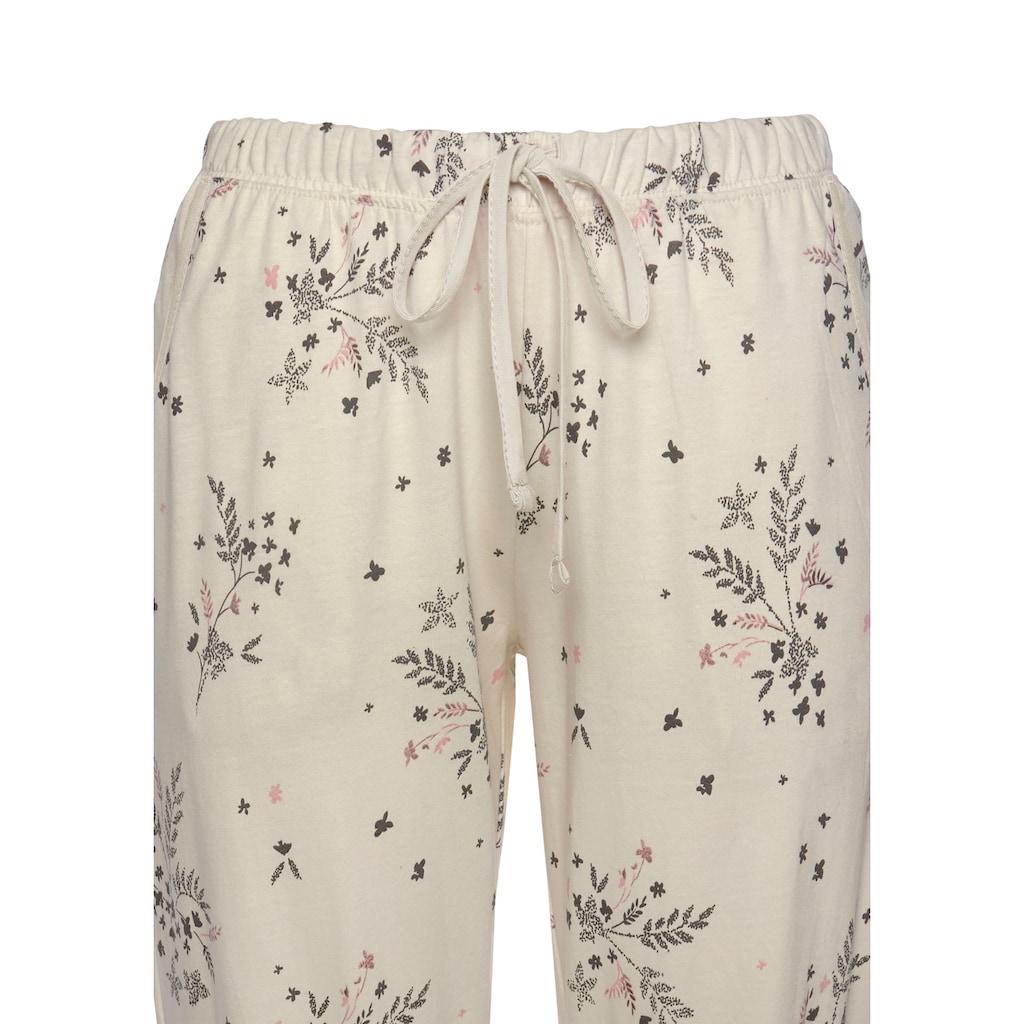 Vivance Dreams Pyjama, (2 Stück), mit feinen Blumenzweigen