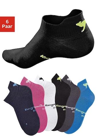 KangaROOS Sneakersocken, (6 Paar), mit erhöhter Ferse kaufen