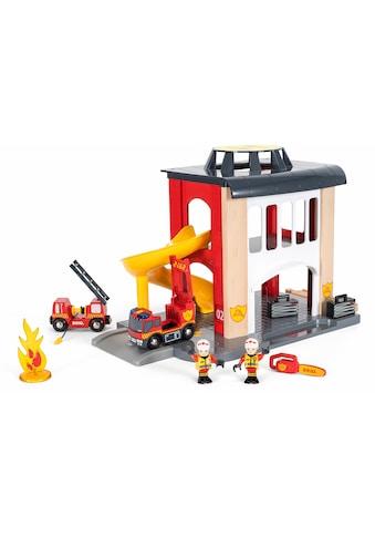 BRIO® Spiel-Feuerwehrwache »BRIO® WORLD Große Feuerwehrstation mit Einsatzfahrzeug«, FSC®-Holz aus gewissenhaft bewirtschafteten Wäldern kaufen