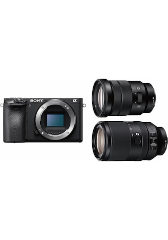 Sony Systemkamera »Alpha ILCE-6500TBDI«, SEL-P18105G, SEL70300G, 24,2 MP, WLAN... kaufen