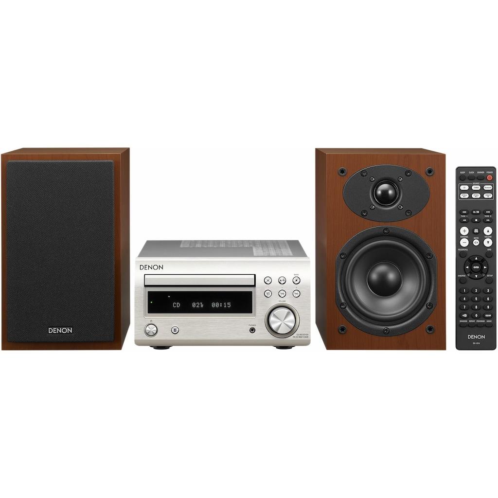 Denon Microanlage »D-M41«, (Bluetooth Digitalradio (DAB+)-FM-Tuner mit RDS 60 W), CD-Player, Bluetooth