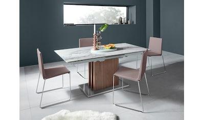 """Places of Style Stuhl """"Hannah"""" (2er - Set), mit weicher Luxus - Microfaser oder Kunstleder kaufen"""