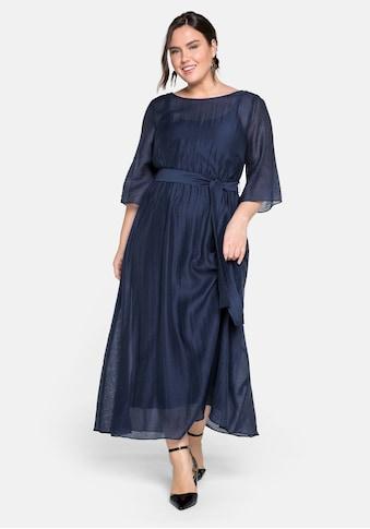Sheego Abendkleid, lang in sehr weiter Form mit Bindeband kaufen