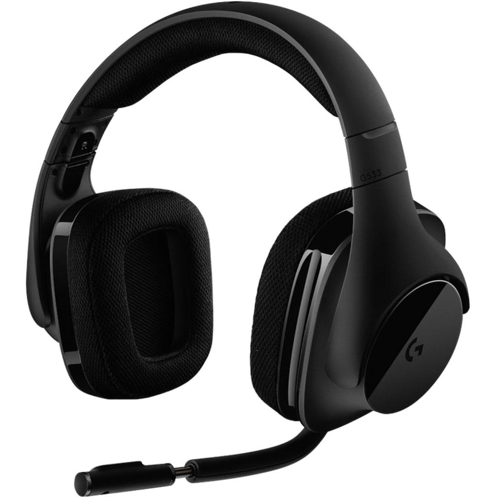 Logitech G Gaming-Headset »G533 WIRELESS«, WLAN (WiFi), Mikrofon abnehmbar-Rauschunterdrückung