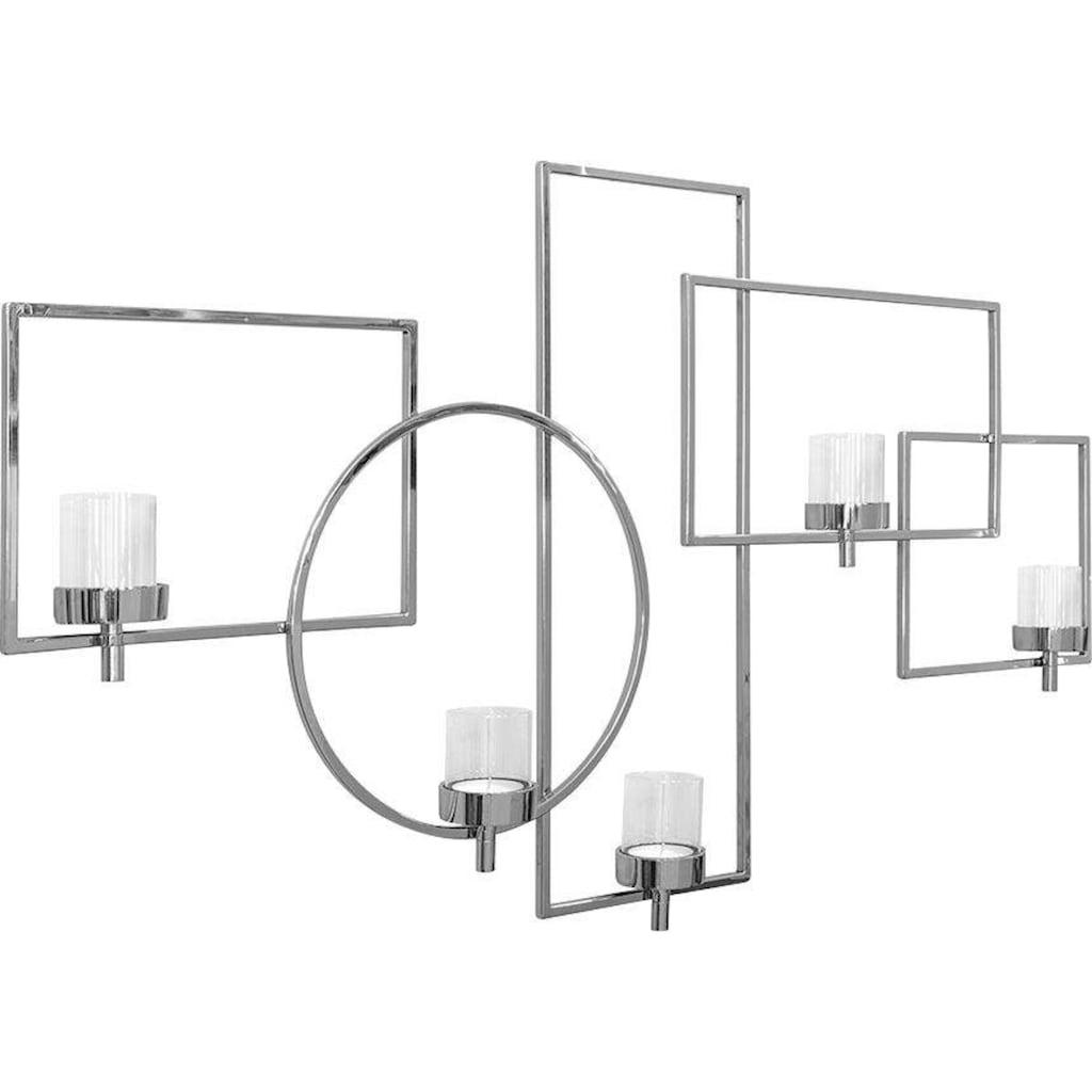 Fink Wanddekoobjekt »ESCALA«, Wanddeko, Wanddekoration, Wandleuchter, Kerzenhalter, Wandkerzenhalter, aus Edelstahl, mit Teelichthaltern