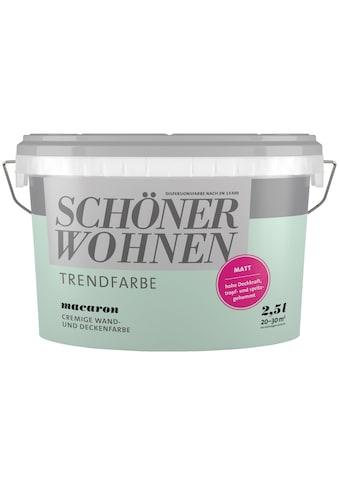 SCHÖNER WOHNEN-Kollektion Wand- und Deckenfarbe »Trendfarbe Macaron, matt«, 2,5 l kaufen
