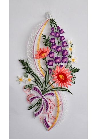 Stickereien Plauen Fensterbild »Blütenzauber« kaufen