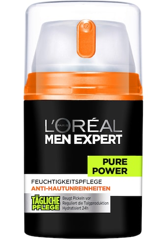 L'ORÉAL PARIS MEN EXPERT Feuchtigkeitscreme »Pure Power«, bekämpft Hautunreinheiten, ohne auszutrocknen kaufen