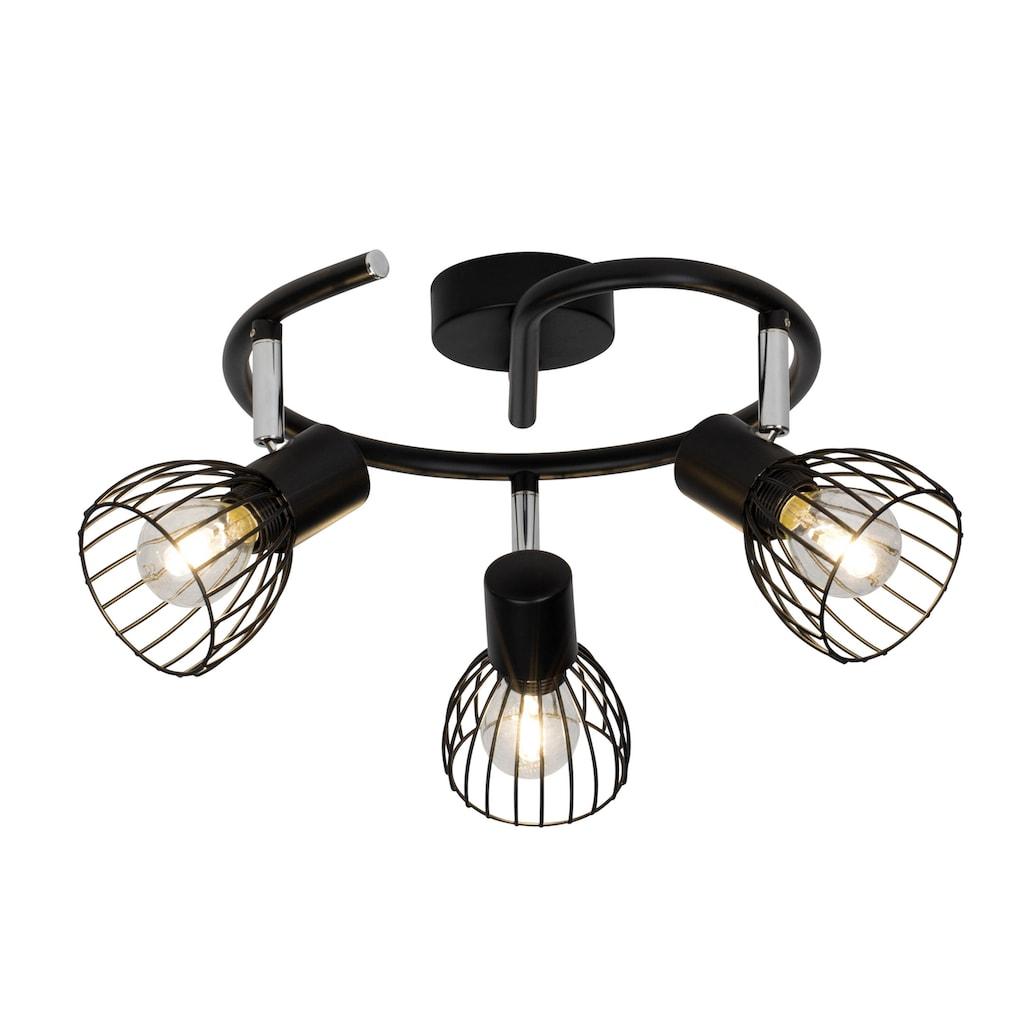 Brilliant Leuchten Deckenleuchten, E14, Blacky Spotspirale 3flg schwarz
